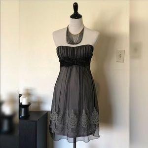Dresses & Skirts - Gorgeous Lace Dress w/ Grey Slip